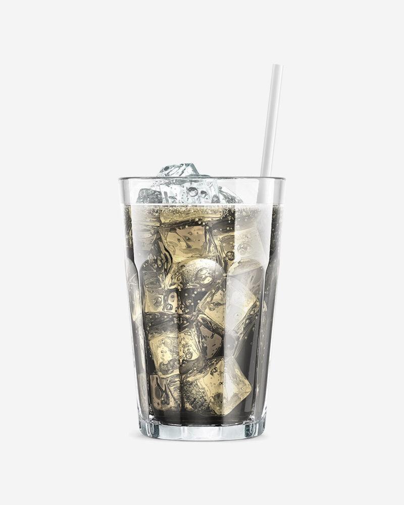 TMB lemon soda in glass