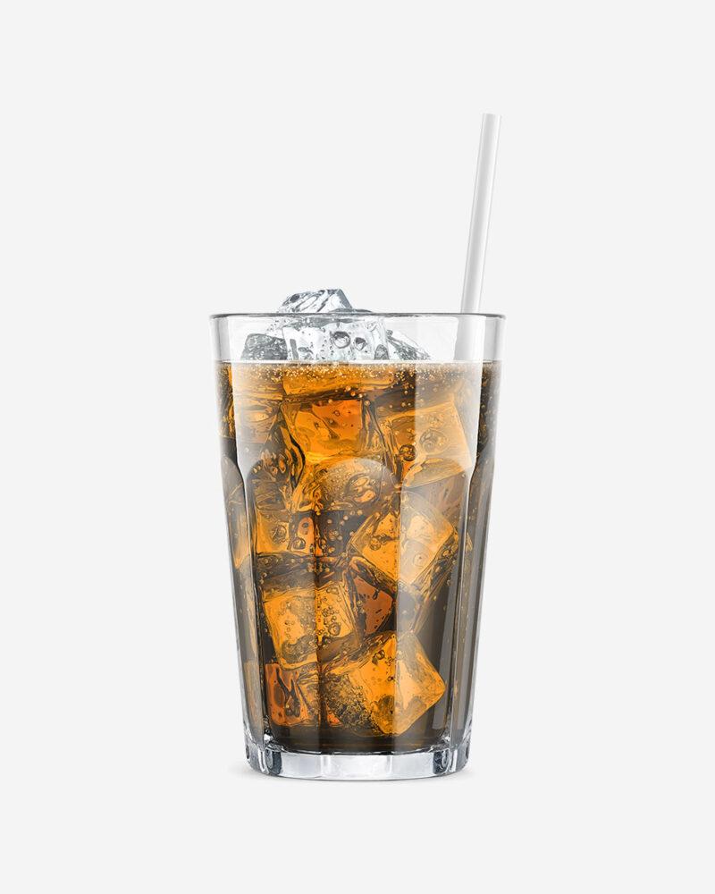 TMB orange soda in glass